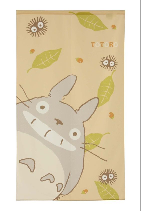 Studio Ghibuli Noren Curtain, Totoro Scene, Design: Totoro: Amazon.de: Kitchen & Household