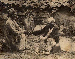 Ex-escravos ocupando o Morro da Providência, Rio de Janeiro