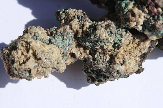Broken Hill Cuprite on Native Copper   Pre 1927 Colletion  Cerussite Smithsonite