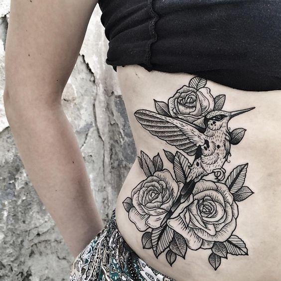 #today ⚪️ #hummingbird #hummingbirdtattoo #tattoo #tattoos #tatted #blacktattoo #bwtattoo #blackwork #blackworkers #rosetattoo #rose #roses #dotwork #dotworktattoo #linetattoo #girlswithtattoos