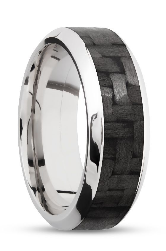 Black Carbon Fiber Wedding Rings For Men Made With White Gold Customize This Style On Our Website 10 Wedding Rings Mens Wedding Rings Custom Wedding Rings