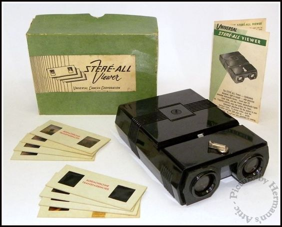 1940's - 1950's Vintage Bakelite Stere-All 3D Stereo Slide Viewer by Universal