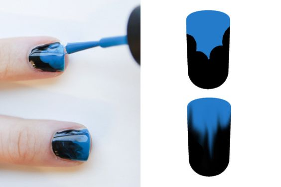 Blue Ombre Nails- Step 2