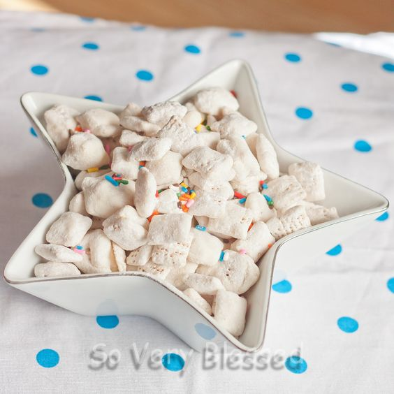 So Very Blessed...: Cake Batter Puppy Chow