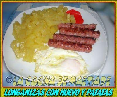 La cocina de Maetiare: Longanizas con huevo y patatas