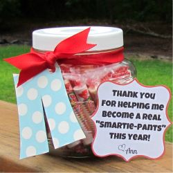 Show your teacher how thankful you are with this Smartie Pants gift.