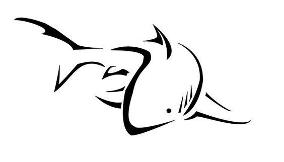 """""""Tribal"""" Shark tattoo"""