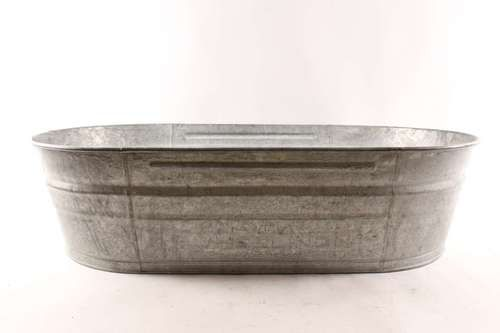 Extra Large 42 Oval Vintage Wheeling Galvanized Metal Farm Wash Tub Wash Tubs Galvanized Metal Galvanized
