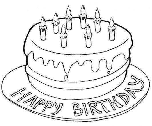 Torta Compleanno Stilizzata.Disegni Da Stampare Torta Di Compleanno Torte Di Compleanno Per Bambini Torte Di Compleanno Compleanno