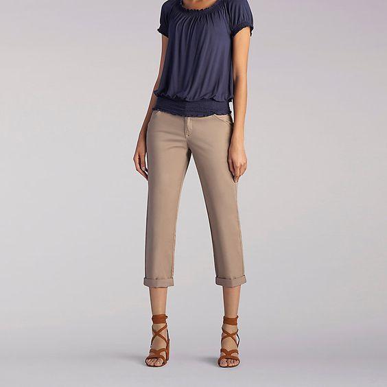Lee Women's The Essential Chino Capri Pants::8:M | Capri, Pants ...