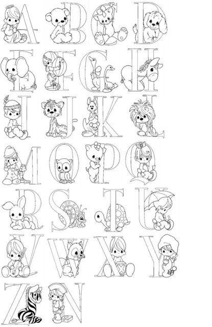 Moldes del abecedario para hacer letras en foami (2) | Creacions ...