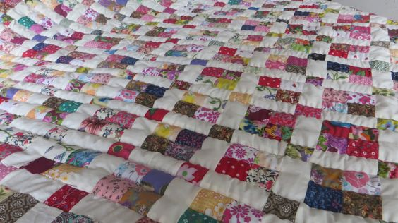 It takes one lady over 2 weeks to create a handmade quilt. Each quilt lasts a lifetime.