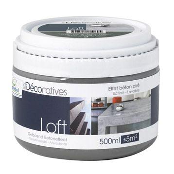Peinture, vernis et cire à effet Loft meuble 0,5 L Peinture effet ...