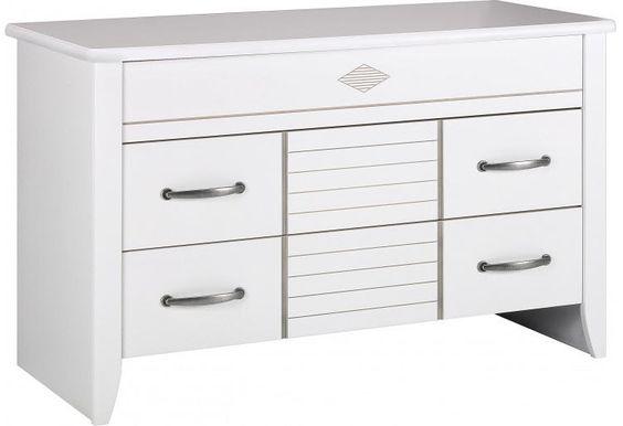 Commode blanche 3 tiroirs prix Commode Destock Meubles 849.00 €
