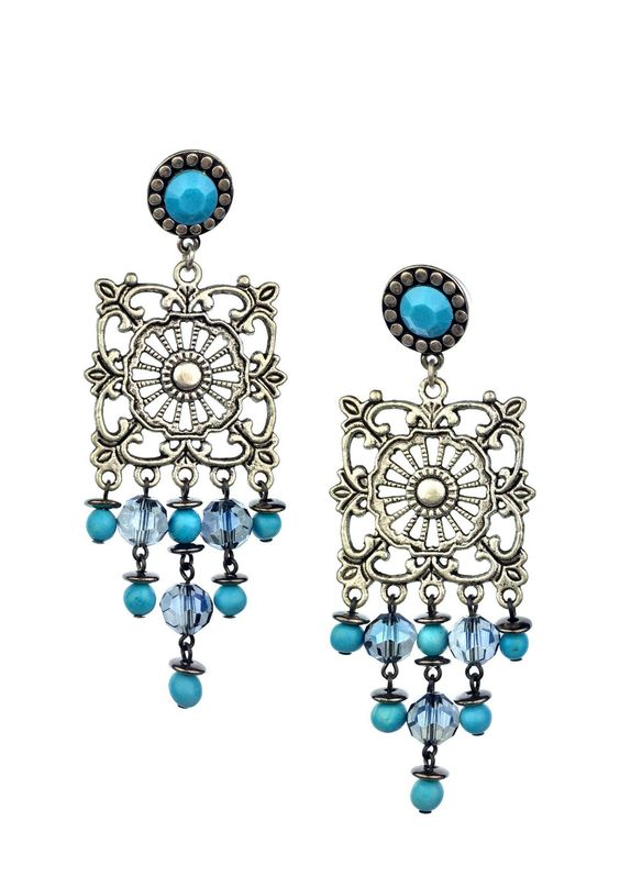 Turquoise Lachs Earrings