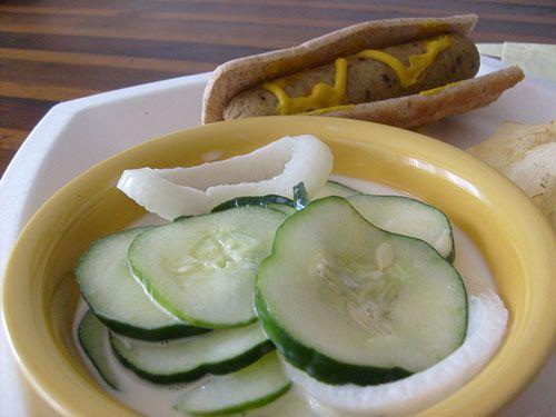 Grandma's Cucumbers in Cream