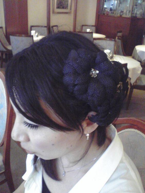 ヘッドドレス 夏のダリア|ハンドメイド、手作り、手仕事品の通販・販売・購入ならCreema。