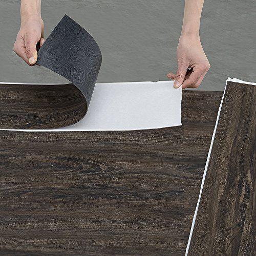 [neu.holz] Vinyl-Laminat (1m²) Selbstklebend Ahorn - matt (7 Dekor Dielen = 0,975 qm) Design Bodenbelag / gefühlsecht / strukturiert
