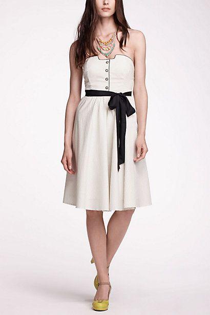 Novella Strapless Dress - Anthropologie.com