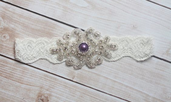 Purple Wedding Garter  Eggplant Purple by PremierBridalGarters, $18.00