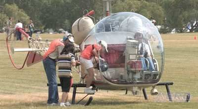 Oshkosh 2009: Aerial AirVenture - The Bell 47G-2 Helicopter Ride