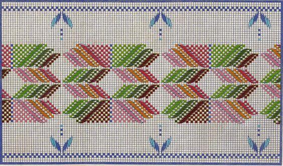 Punto Yugoslavo (patrones) | Bordado Hilvanes | Pinterest | Patrones