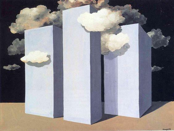 'Tormenta', 1932. René Magritte / arte, pintura, surrealismo, nubes, edificios, metafísica
