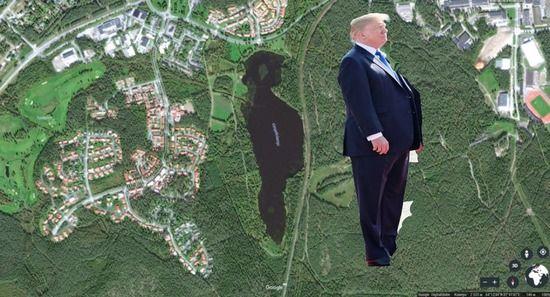 フィンランドの湖 トランプ大統領