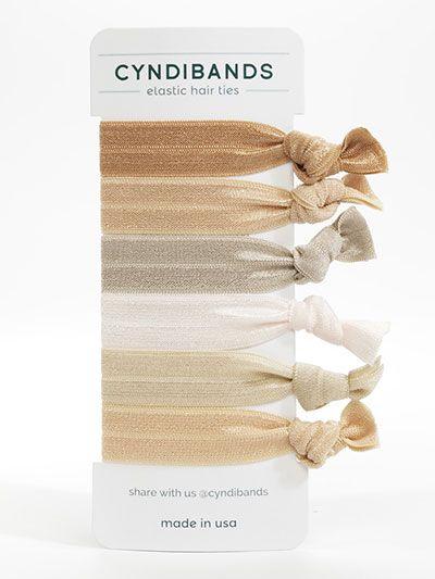 Cyndi Bands set of 6 elastic hair ties in Blonde