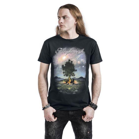 """Classica T-Shirt uomo nera """"Celebrate"""" dei #Nightwish."""