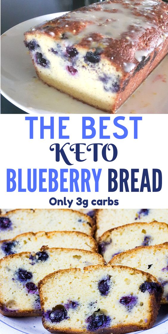The Best Keto Blueberry Bread – Moist & Delicious