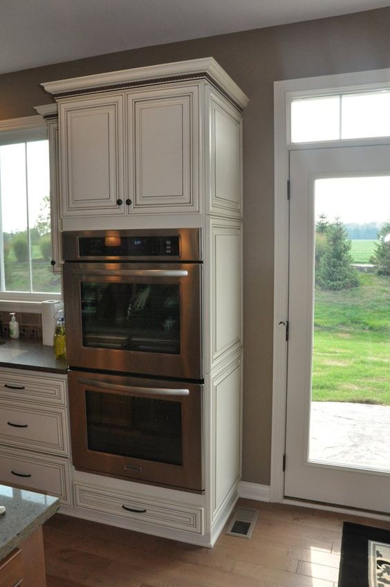 Double ovens small cabinet and cabinets on pinterest