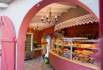 The bakery at Serignan Plage - the best French bread in the world bar none!