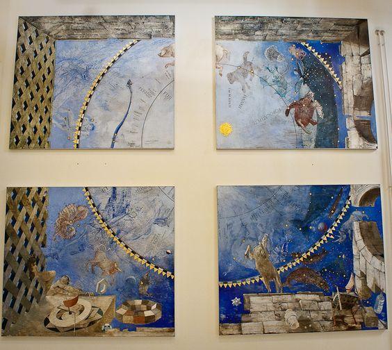 El cielo estrellado, óleo sobre panel; Matthijs Röling (1989)