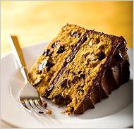 Chocolate Pumpkin layer cake.