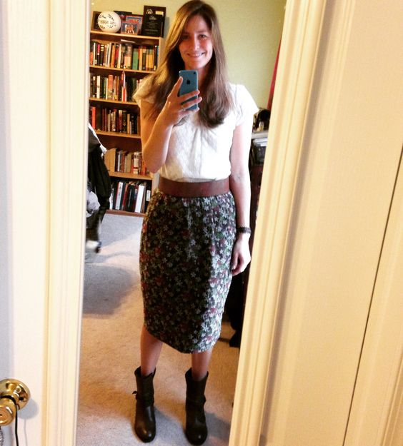 Okay this is my actual favorite JCrew skirt and lace top!