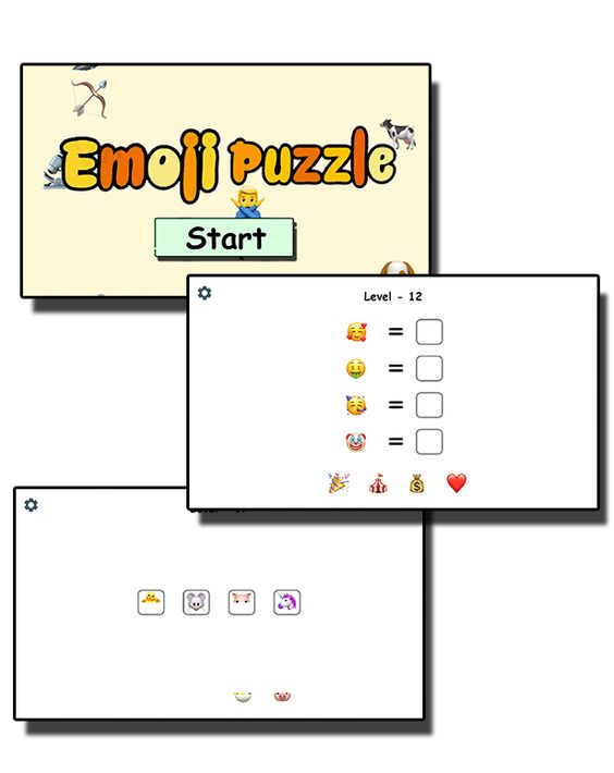 Emoji Puzzle - HTML5 Mobile Game - 1