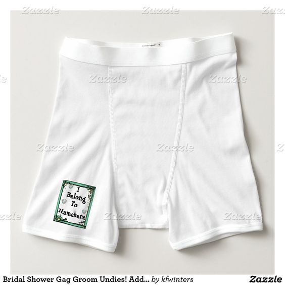 bridal shower bridal shower gifts boxer briefs grooms bridal shower ...
