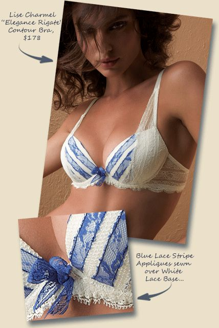 cute blue and white lace bra from a lingerie blog