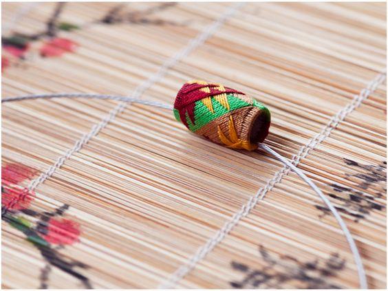 Anhänger ► Halsreif, Collier, Textil, Origami von YUMAKO auf DaWanda.com
