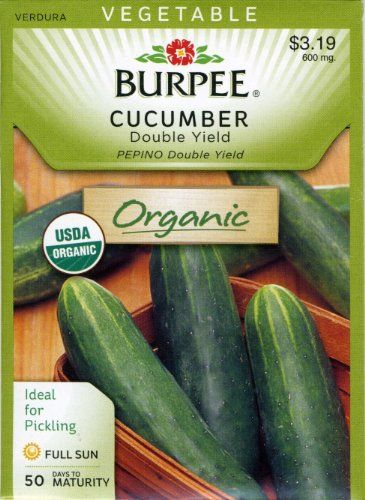 Burpee Cucumber Double Yield 64256 (Green) 25 Organic Seeds David's Garden Seeds http://www.amazon.com/dp/B00HCQ6X6U/ref=cm_sw_r_pi_dp_r9fTtb07G8G7TEYS