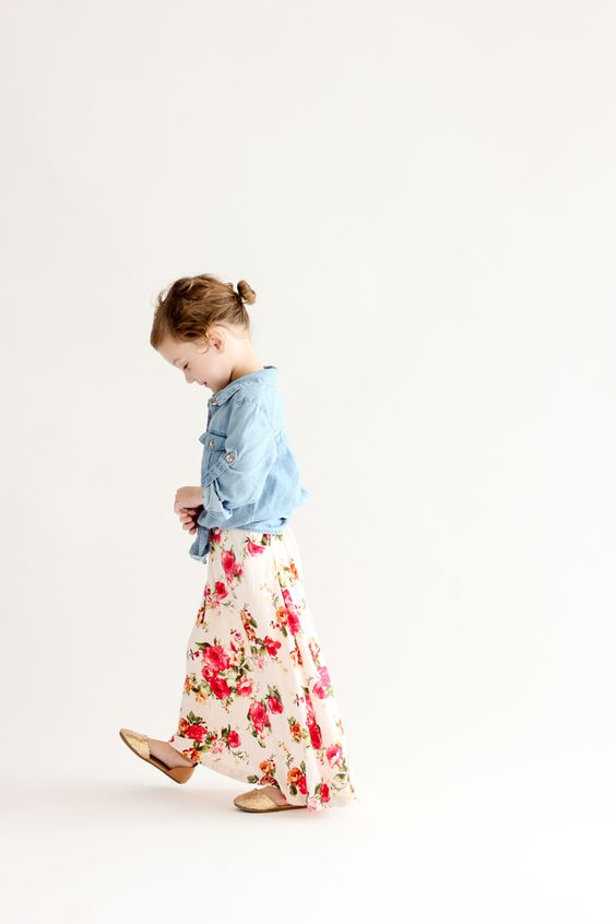 toddler maxi skirt sewn by delia creates pattern by