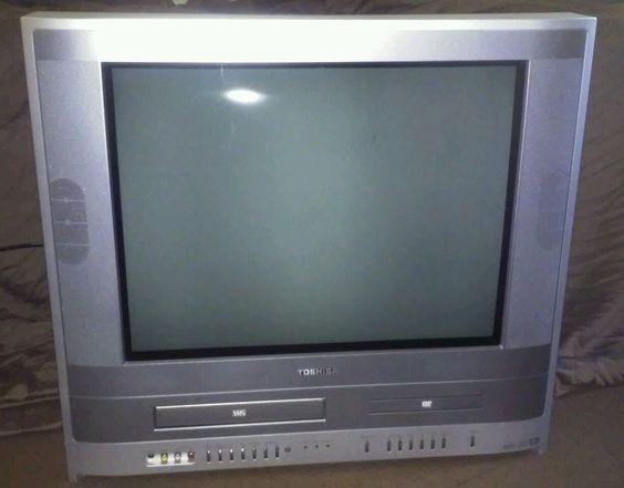 Toshiba Mw20fp3 20 U0026quot  Flat Tube Color Tv  Vcr  Dvd Combo  U0026quot No