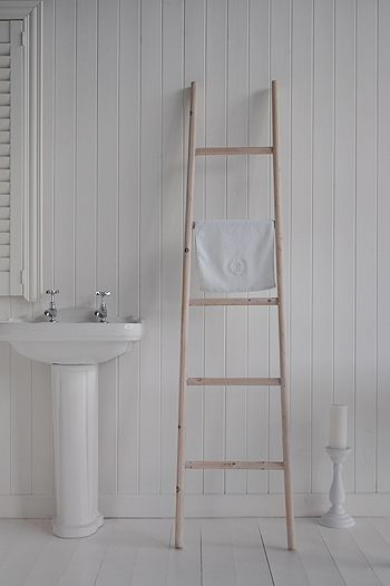 Wooden Towel Ladder Bathroom Pinterest The White