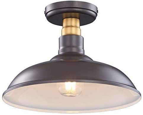 Cloudy Bay Vintage Edition Industrial Style Semi Flush Mount