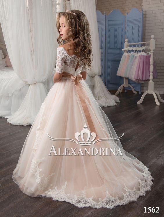 1562 Flower Dress En 2019 Vestidos De Niña Elegantes