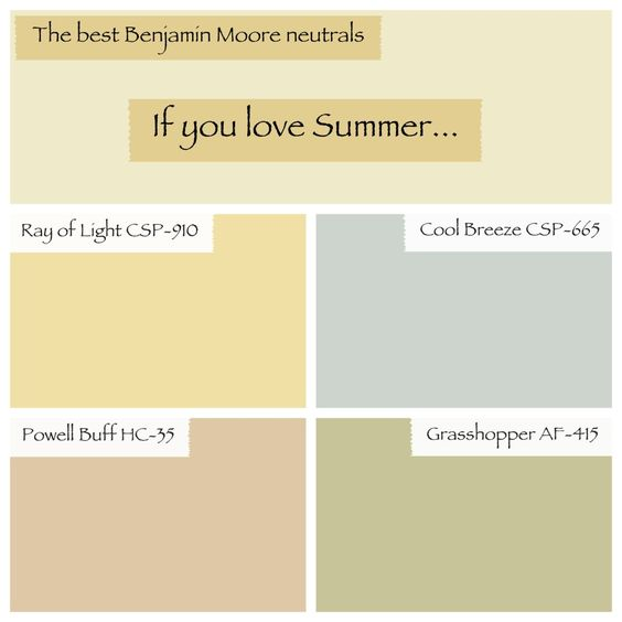 Favorite Benjamin Moore Neutral Colors Best Benjamin