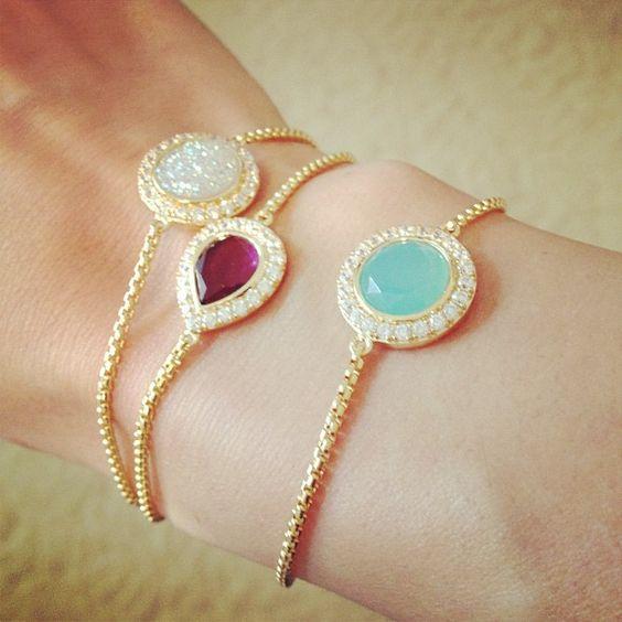 MAD Druzy & Glass Bracelets
