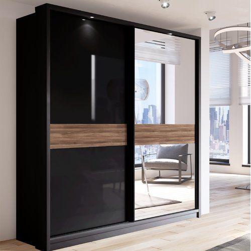 Barse 2 Door Sliding Wardrobe Orren Ellis Cupboard Design Furniture Home Decor