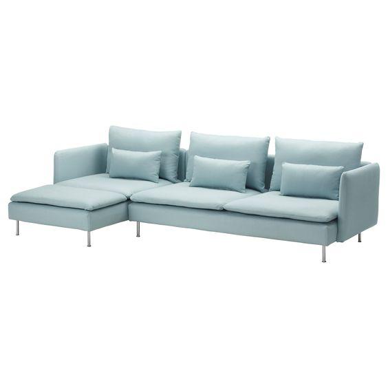SÖDERHAMN Sofa and chaise lounge Samsta dark gray IKEA